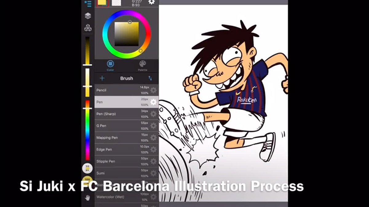 🎥 Video dibalik layar @JukiHoki berlatih di FC Barcelona 😉 💙❤️