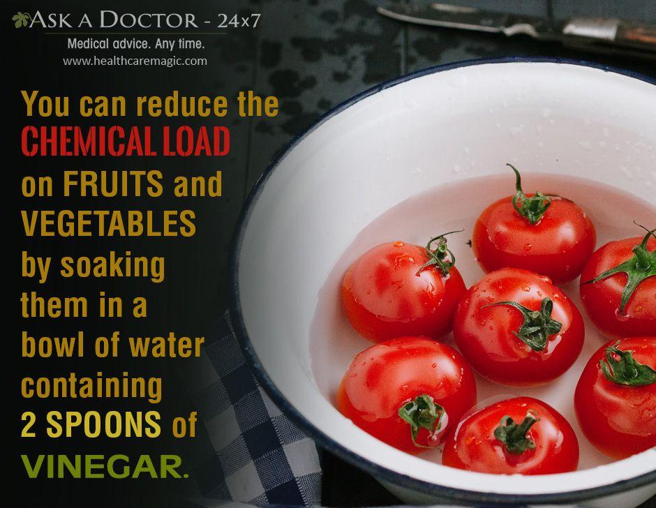 Largest Health Q&A site. Ask a Doctor Online at     https://t.co/kQBzB69Ql9  #chemicalloadedfruits #veggetables #soakthem#waterandvinegarconcoction#AskADoctor#DailyHealthTips#HealthcareMagic