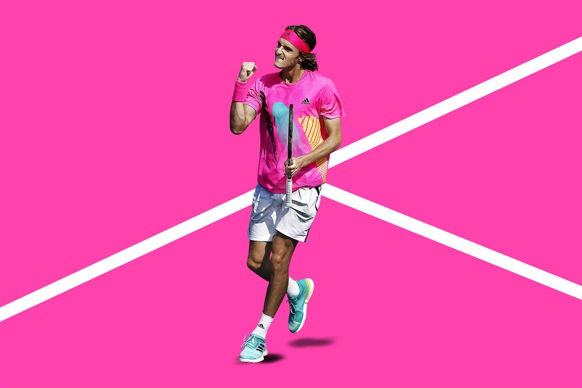 Stefanos Tsitsipas On Twitter Didn T Know That Australianopen Is Changing Their Courts To Pink Color Very Appealing