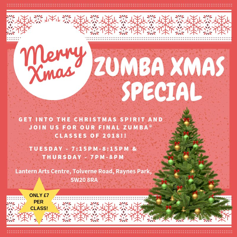 Zumba Christmas Images.Zumba Raynes Park On Twitter Final Week Of Classes 2018