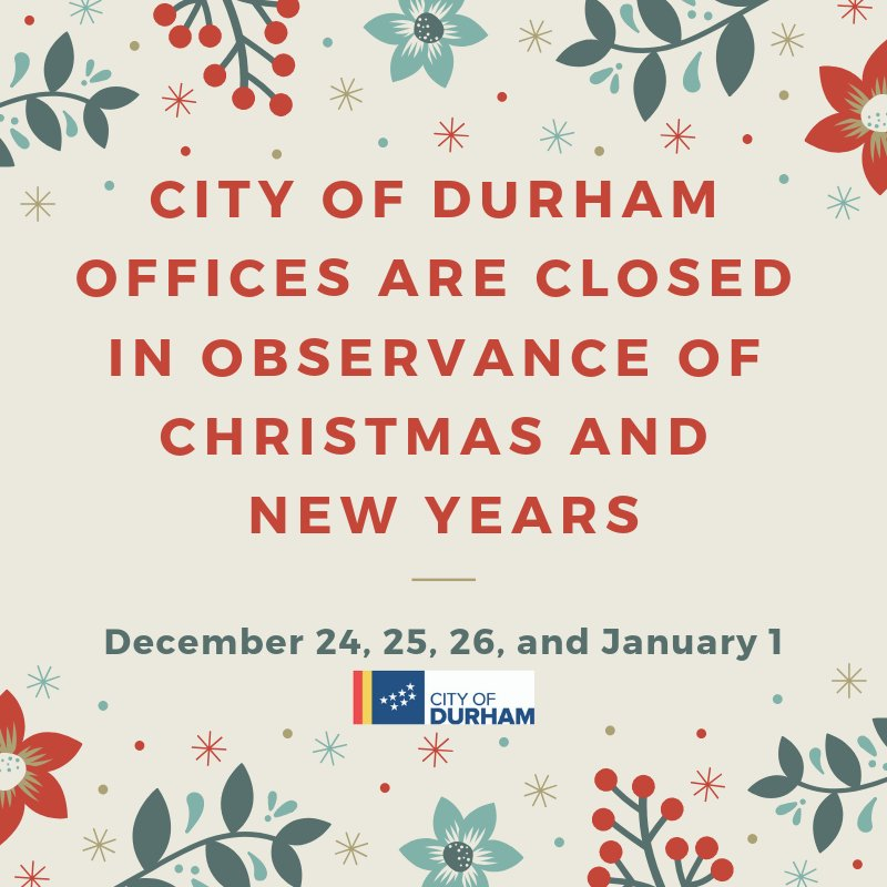 Cityofdurhamnc On Twitter Most Of Our Offices Including Durham
