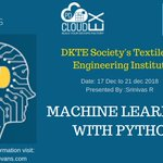 Image for the Tweet beginning: The workshop for machine learning