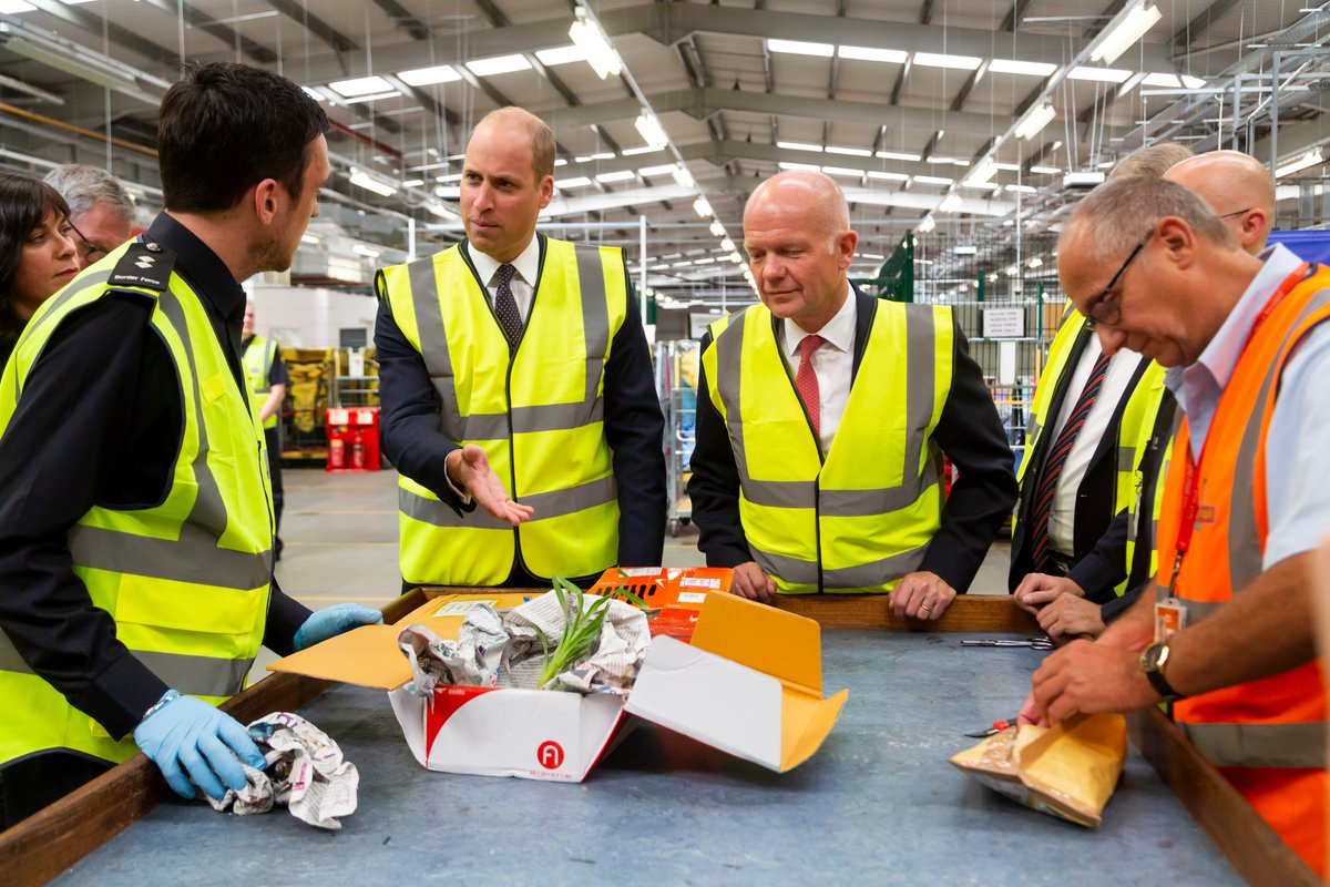 In September, The Duke of Cambridge visited Royal Mails Worldwide International Logistics Centre at Heathrow to see how Transport Taskforce members are working together to disrupt attempts to traffic illegal wildlife products.