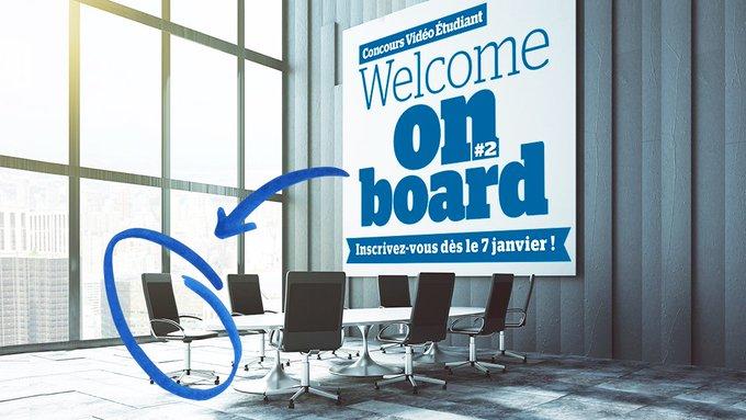 Le 7 janvier, nous relançons notre concours vidéo étudiant #WelcomeOnBoard, pour vous permett...