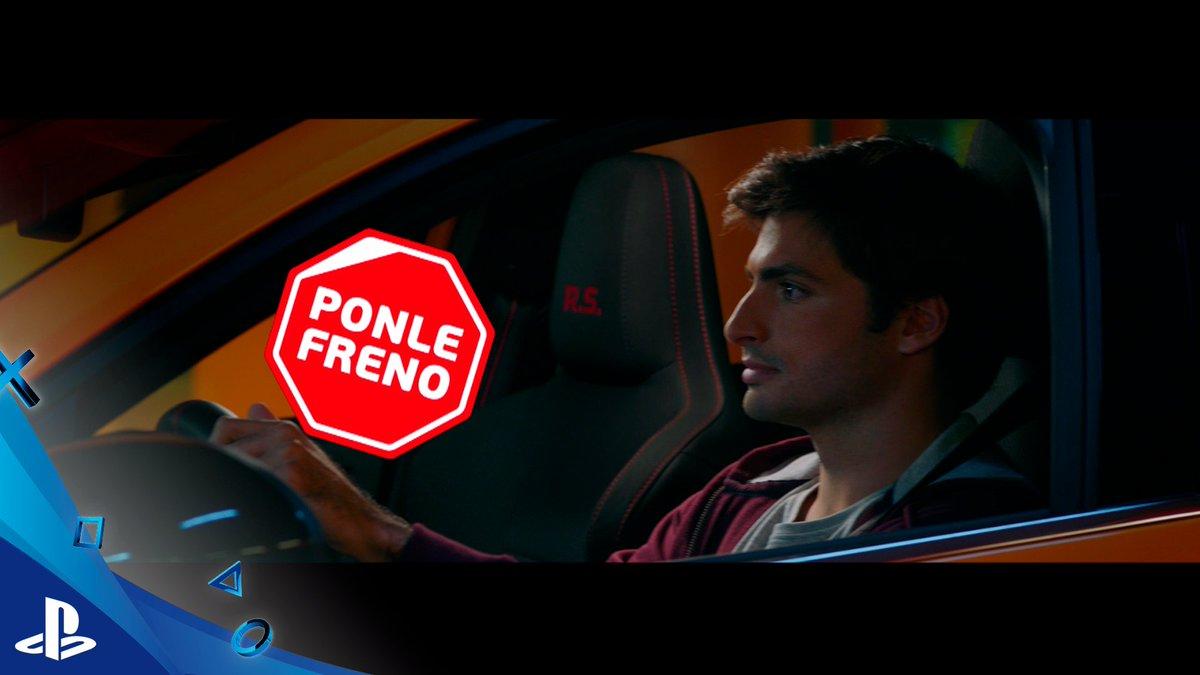 NO CORRAS en la carretera, CORRE en Gran Turismo... Y como @Carlossainz55, en la carretera... #PonleFreno 😉 @Ponle_Freno