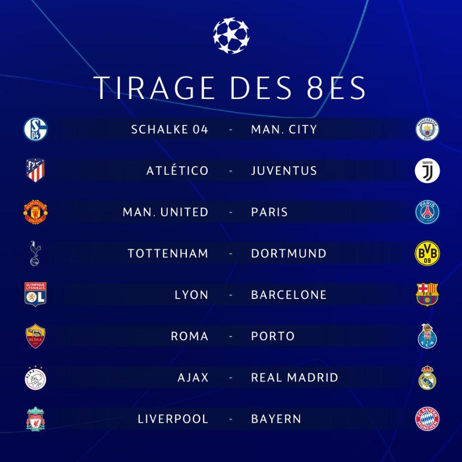 Calendrier Ligue De Champion.Tirage Ligue Des Champions Paris Contre Manchester United