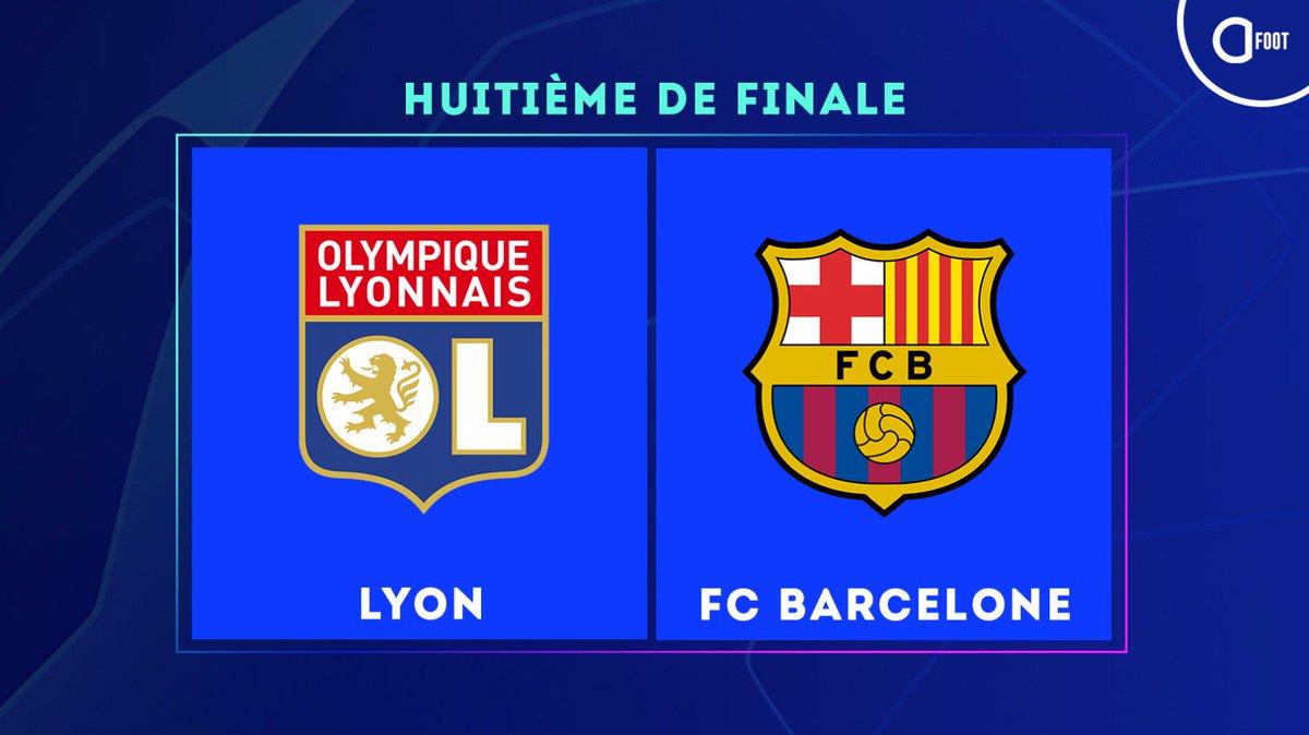 🔴 #TirageLDC :  LYON 🇫🇷  -  🇪🇸 FC Barcelone
