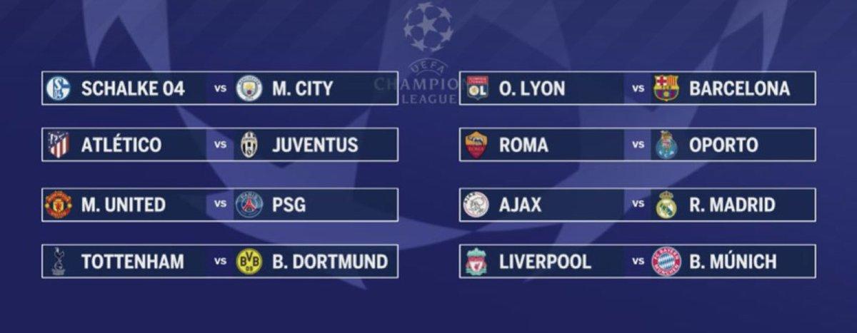 Así quedaron los 8vos de Final con partidazos de @ChampionsLeague que pensás ? Quién pasará ? Palpites ? Nos vemos en febrero como cada miércoles via Facebook !  Abzo #TheChampiooooons !