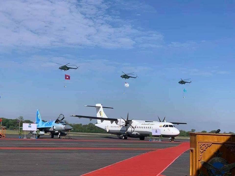 اول مقاتله مخصصه للتصدير الى ميانمار نوع FC-1/JF-17 تمت مشاهدتها في الصين  DunX2D5X4AAlz_Q