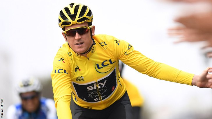 """""""Its a big challenge. Its one Im looking forward to taking on. Geraint Thomas is aiming to emulate Miguel Indurain by successfully defending the Tour de France title after winning it for the first time. bbc.in/2LkdJip"""