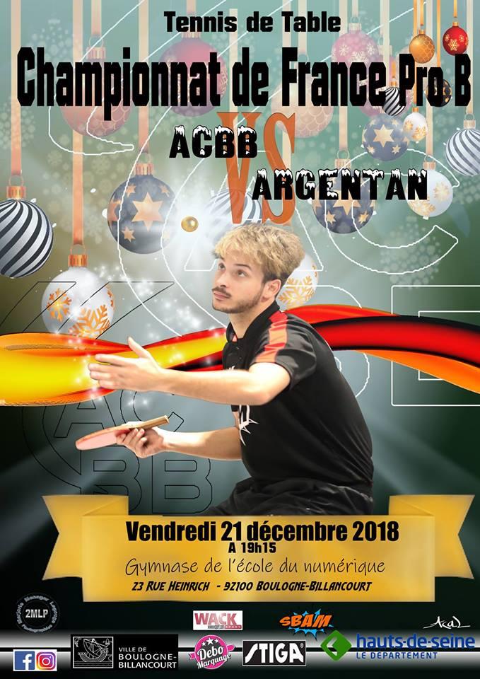 Acbb Tennis De Table On Twitter Pro B Reception D Argentan