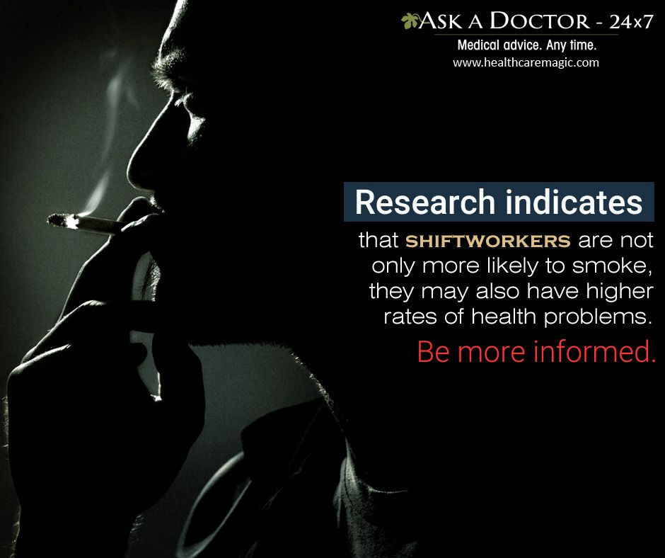 Largest Health Q&A site. Ask a Doctor Online at     https://t.co/kQBzB69Ql9  #shiftworkers#domoresmoking#AskADoctor#DailyHealthTips#HealthcareMagic