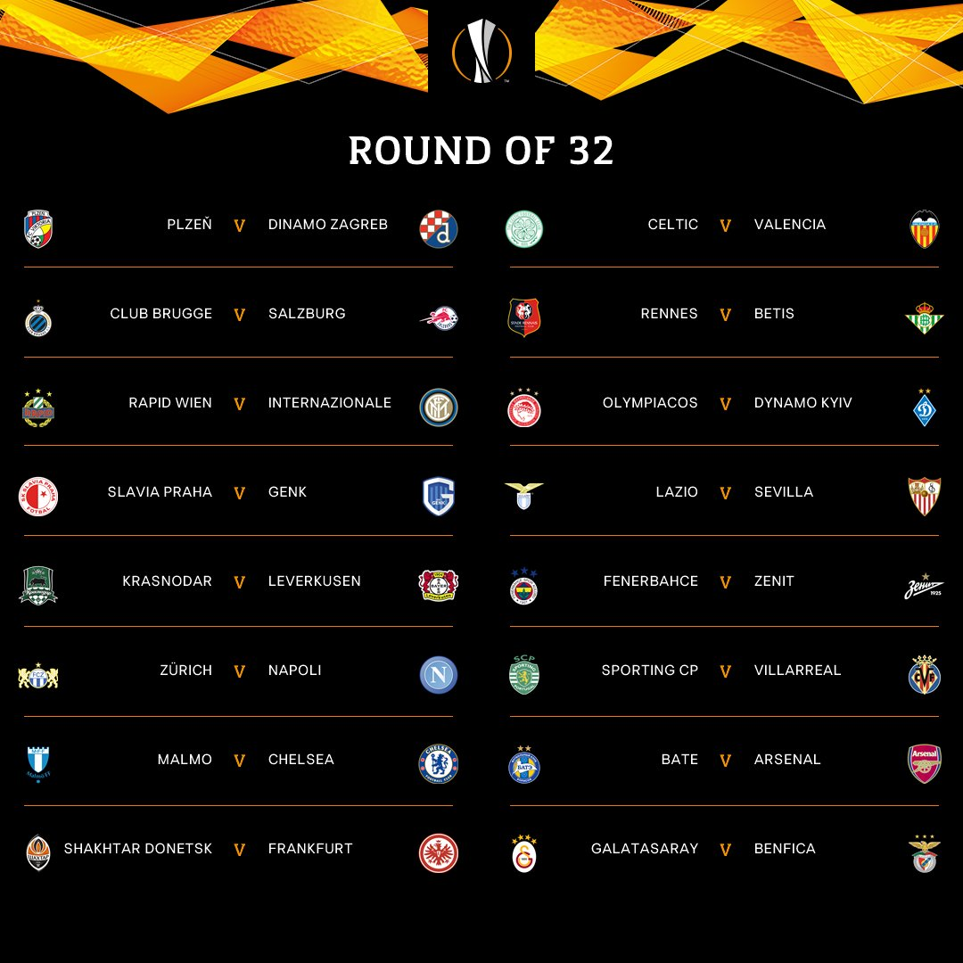 🔸OFFICIAL: ROUND OF 32 DRAW!🔸  😃 or 😩 ❓  #UELdraw