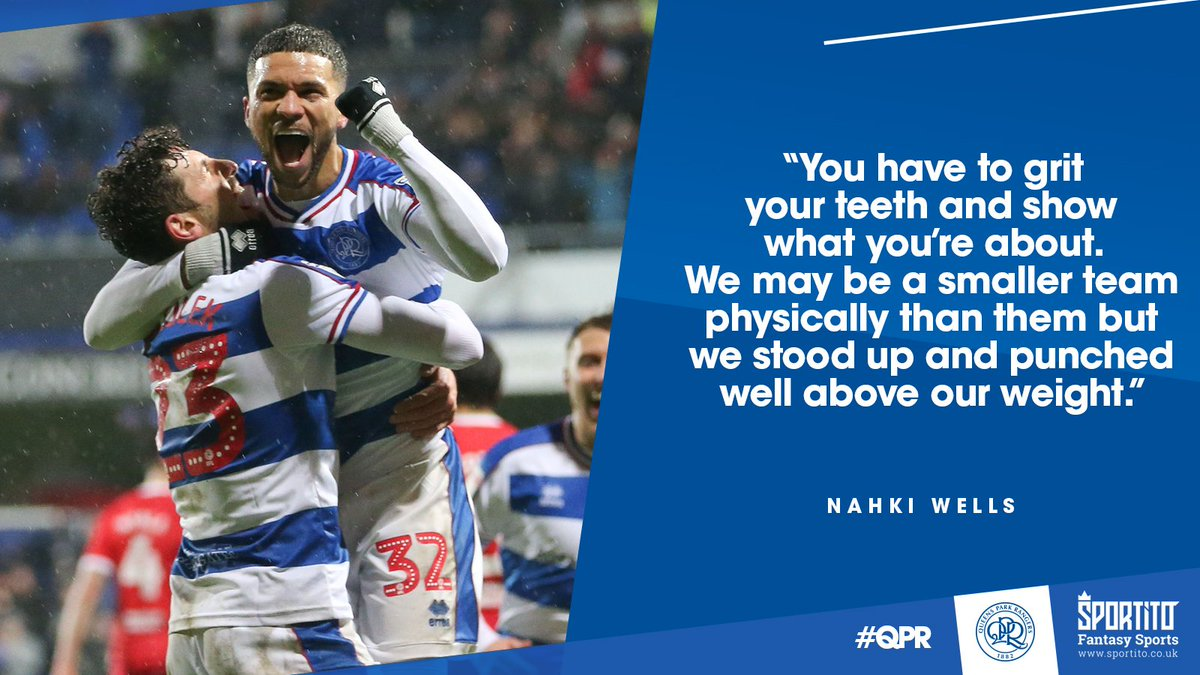 🥊 Nahkis knockout punch! @nahkiwells was pleased to help #QPR come out on top against one of the @SkyBetChamps heavyweights. ▶️ qprng.rs/MIDHWells #QPRMID