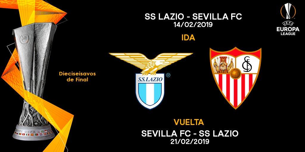 📢 La @OfficialSSLazio será nuestro rival en los dieciseisavos de final de la @EuropaLeague. ¡Nos vamos a Italia! 🇮🇹⚽️🏆  #UEL #vamosmisevilla #LuchaPorLoQueAmas 💪❤️