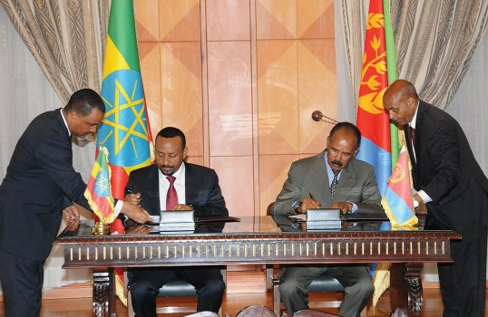 With an end to decades of strife, Ethiopia and Eritrea are now making up for lost time.  Focus for both countries will now be on development: Get more in the latest Africa Renewal edition :https://t.co/5CcBNoYppe #GlobalGoals