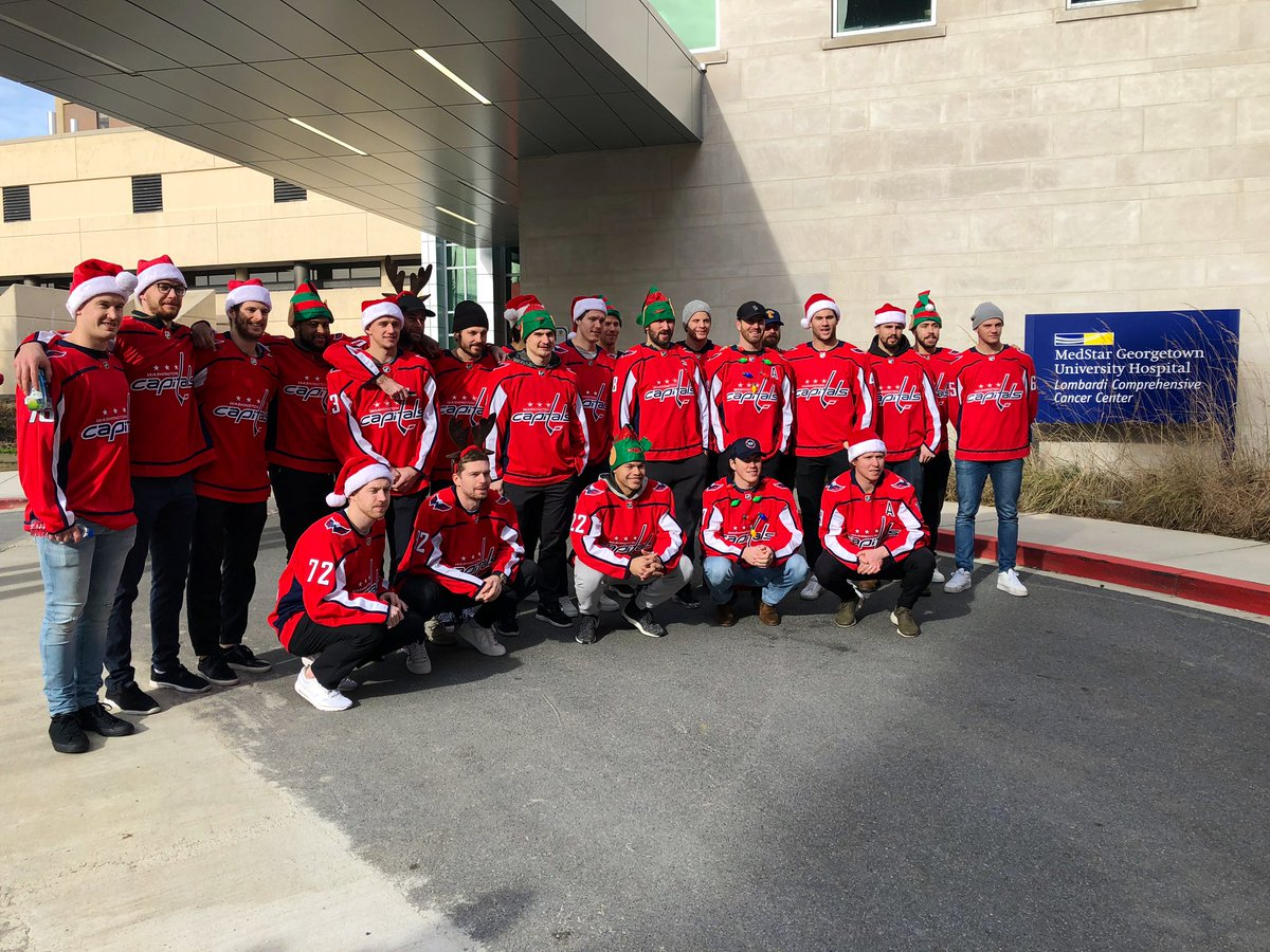 We've arrived at @MedStarGUH to spread some holiday cheer!  #ALLCAPS #CapsCare