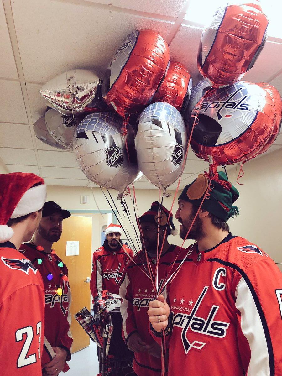 Got a couple of balloons and gifts for the kids at @MedStarGUH!   #ALLCAPS #CapsCare