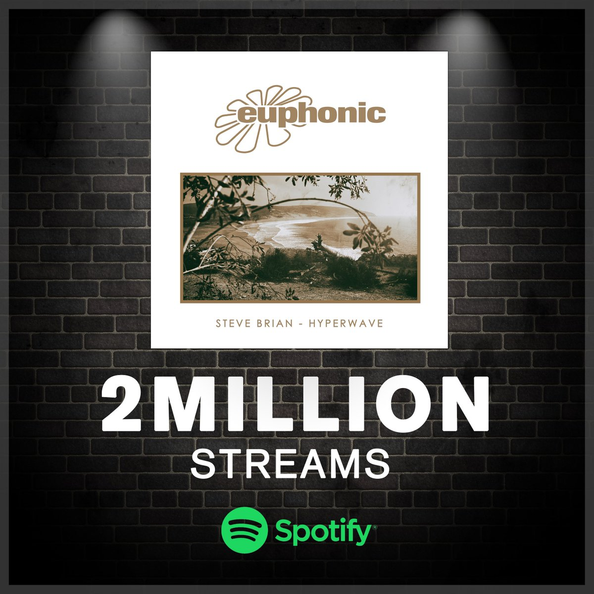2 Million streams on #Spotify for 'Hyperwave' 🌊Congrats @SteveBrianMusic! 😍 http://EUPHONIC.LNK.TO/EUPH253