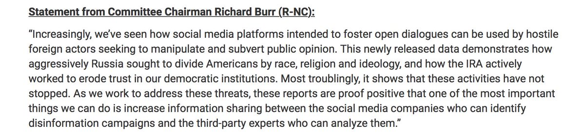 "@noUpside @WIRED @PopilyTeam  '…t @facebook @polbots @oiioxford @BuzzFeedNews @SenatorBurrhese reports are proof positive that one of the most important things we can do is increase information sharing between the social media companies who can identify disinformation campaigns and the third-party experts who can analyze them."" – ht @SenatorBurrtps://t.co/sYHzf7DZoK"