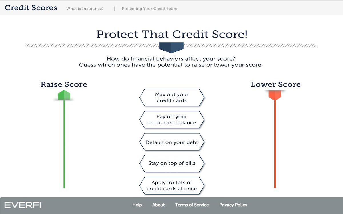 What is a credit card balance everfi