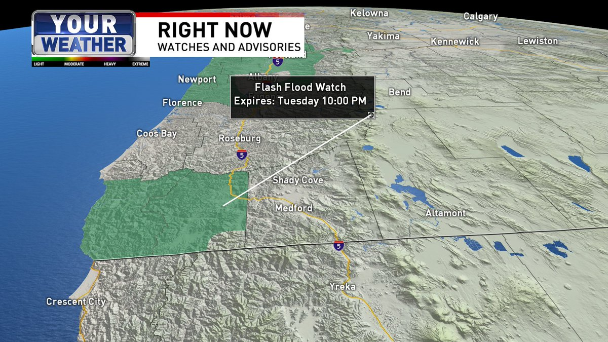A Flash #Flood Watch will go into effect early Tuesday morning for the Klondike and Chetco Bar burn scar areas in portions of Curry and western Josephine Counties. Conditions for debris run &amp; landslides are suitable as storm total rainfall of 3 to 6 inches is expected.  @ktvl<br>http://pic.twitter.com/9PCc6bPcWZ
