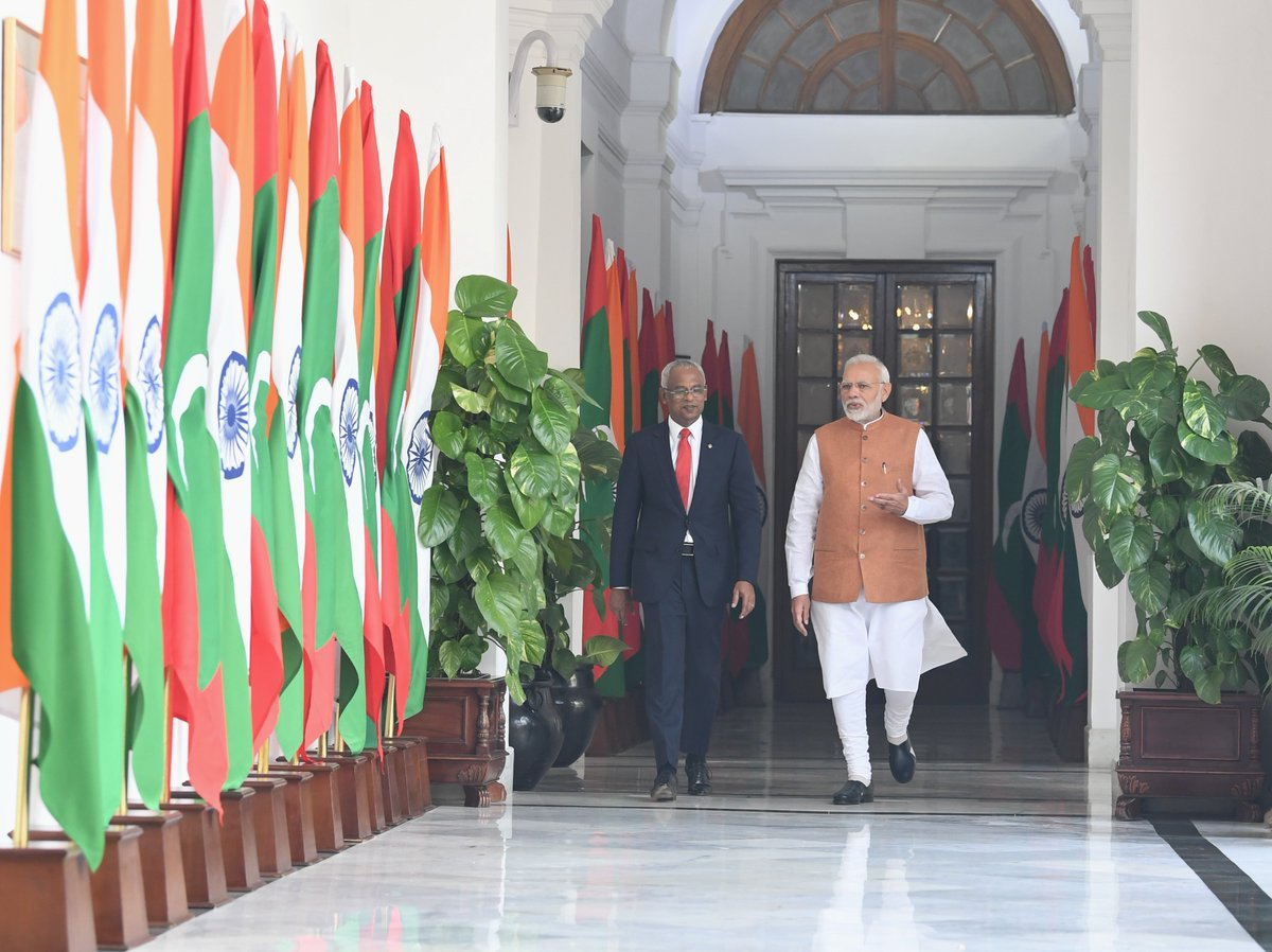 President @ibusolih's people-centric development efforts are truly commendable.   As a close friend, India always wishes for progress and prosperity of the Maldives.   During our talks today, we discussed ways to boost connectivity, trade and cultural ties between our countries.