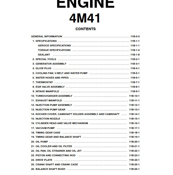 4m41 Engine manual
