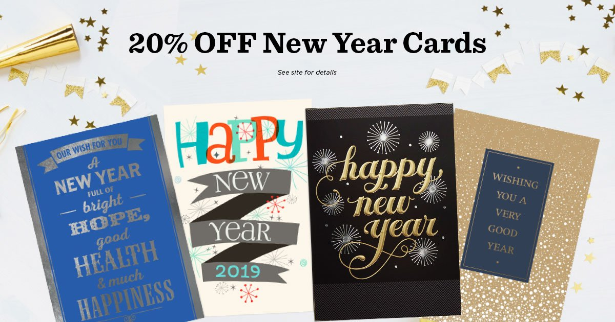 take 20 off hallmark new year cards and calendar cards with code nycal15 at checkout your employees and customers will appreciate the fresh start