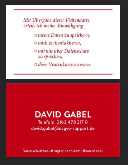 Dsgvopositiv On Twitter Neue Visitenkarten Dsgvo