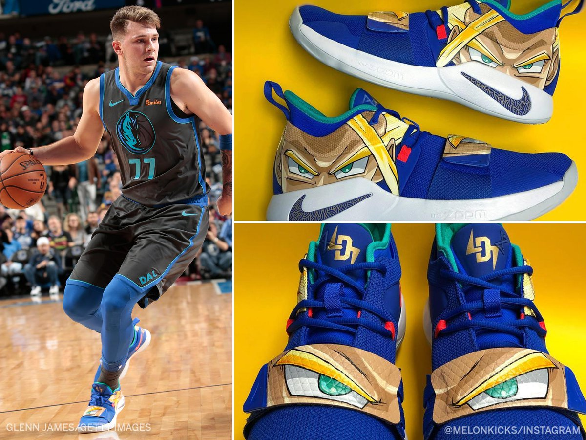 .@luka7doncic's Gohan-inspired sneakers were too clean 🔥 (via @melonkicks)