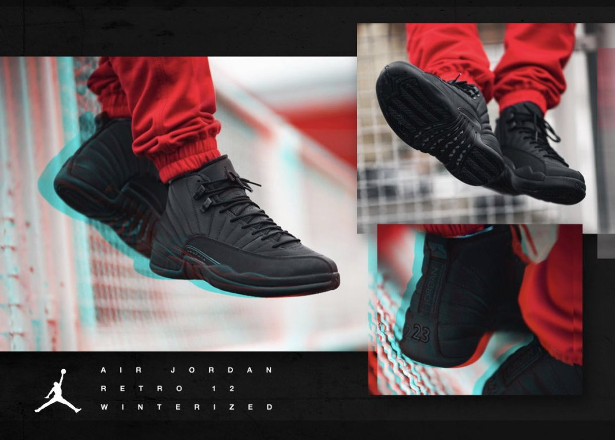 fb560fd4c52356 AIR JORDAN RETRO 12 WINTERIZED MENS LIFESTYLE SHOE (BLACK ANTHRACITE) FULL  FAMILY http   bit.ly 2Cfftqs pic.twitter.com 03HR3vcOT4