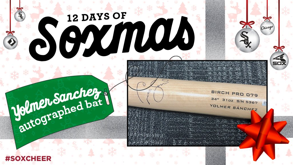 On the 4th day of Soxmas...  RETWEET for a chance to win an autographed @CarlosSan29 bat! #SoxCheer https://t.co/XkYWZhP2Oz