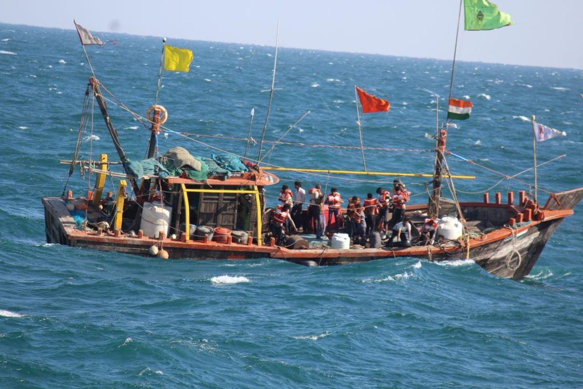 Spurt in rescue operations along Gujarat coast, Coast Guards save 31 fishermen and 3 boats
