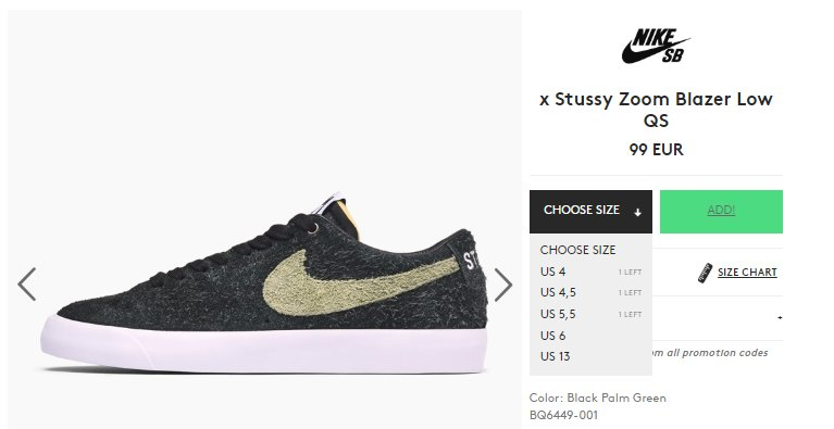 Moresneakers Com On Twitter Ad Stussy X Nike Sb Zoom Blazer Low