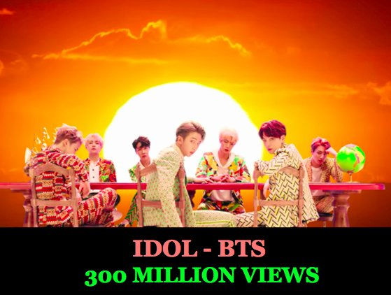 #BTS's #IDOL MV is their 8th Video to surpass 300 Million Views!👏🎞️💥3⃣0⃣0⃣🕺🕺🕺🕺🕺🕺🕺👑  https://t.co/VVyvmzz9Dk