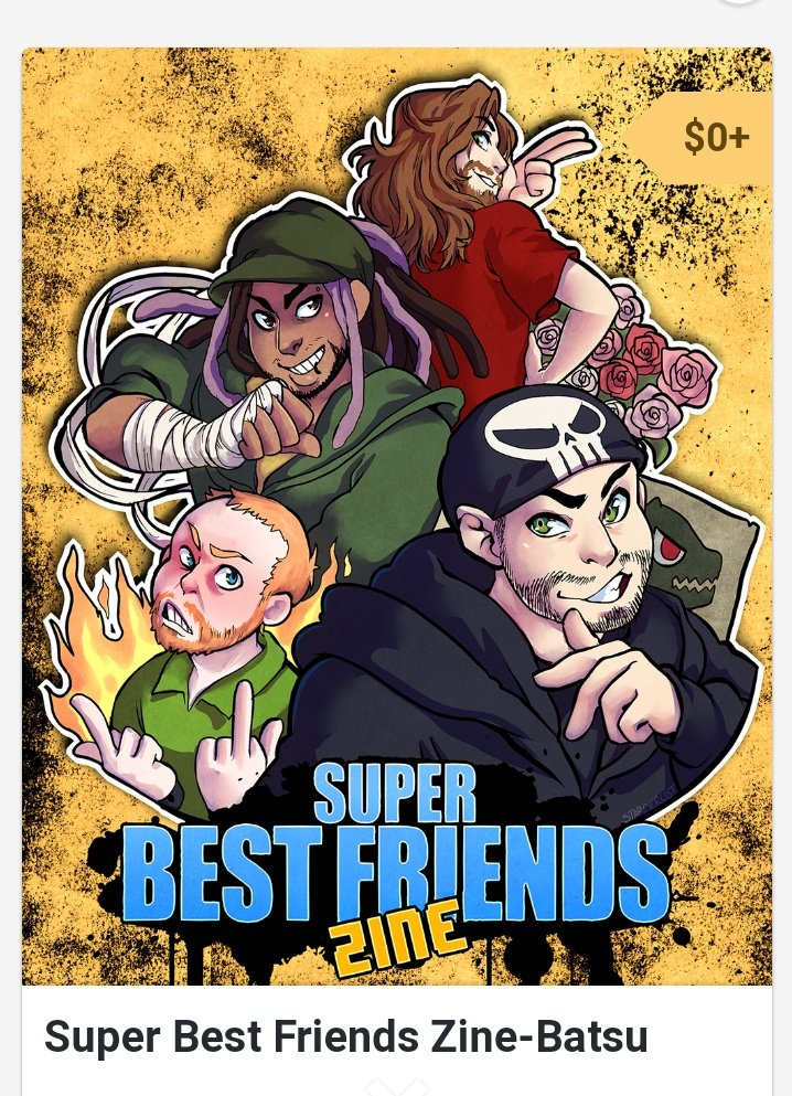 One of my favorite things was putting together the Super Best Friends Zinebatsu w/ @ursula_cat. &#39;an @Versescaaa. we loved creating this for the guys and the fans. Beautiful covers by @starpyrate and @Volta_Bass and art by others.  thanks @MattMcMuscles @AngriestPat @WoolieWoolz<br>http://pic.twitter.com/WCbIs5nfCZ
