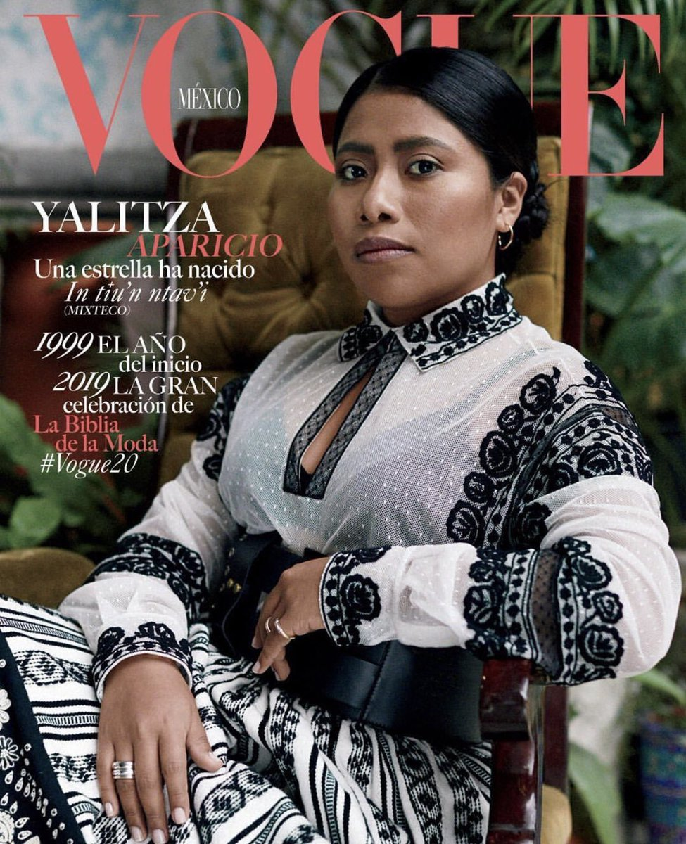 a indigenous mexican woman on the cover of vogue mexico... thank you Yalitza