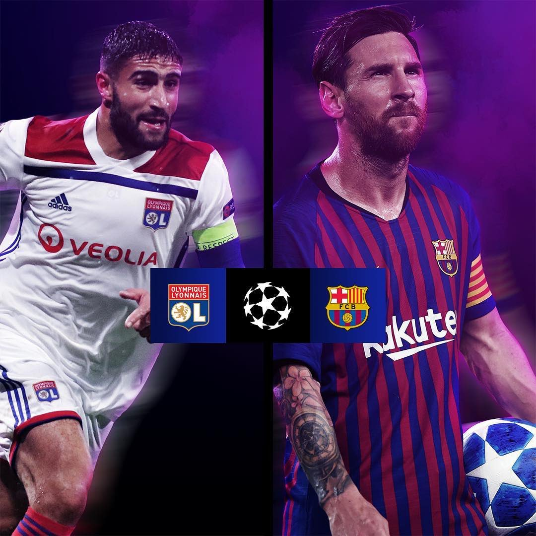 Barca will face Olympique Lyonnais in Round of 16 #UCL #Barca