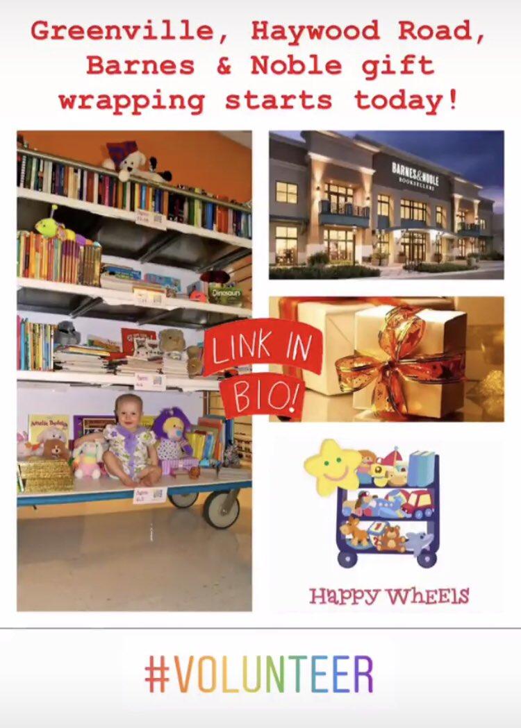 Sign up: http://HappyWheelsInc.org #happywheels #localcharity #tistheseasontogive #volunteer #yeahthatgreenvillepic.twitter.com/Val9URwU5v