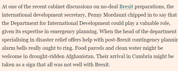 No-deal brexiters are approaching no deal with a terrifying indifference https://t.co/pZ293pzt9a