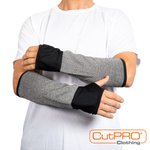 CutPRO arm guards are lightweight and comfortable, offering outstanding protection against cuts and lacerations. #glassfab #metalfab #ppe #armguards #healthandsafety #manufacturing