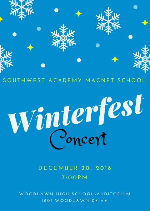 The Academy Welcomes You! See you Thursday! ❄️🎤🥁🎺🎻❄️