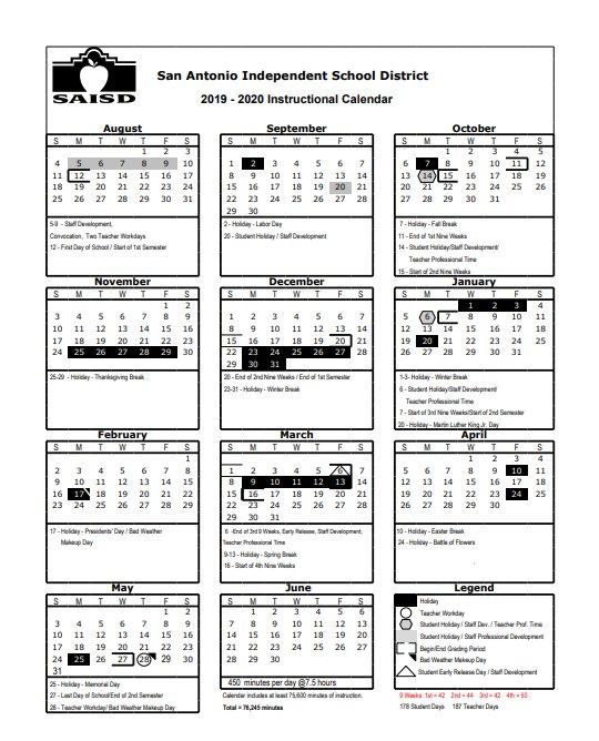 Saisd Calendar 2020 SAISD on Twitter: