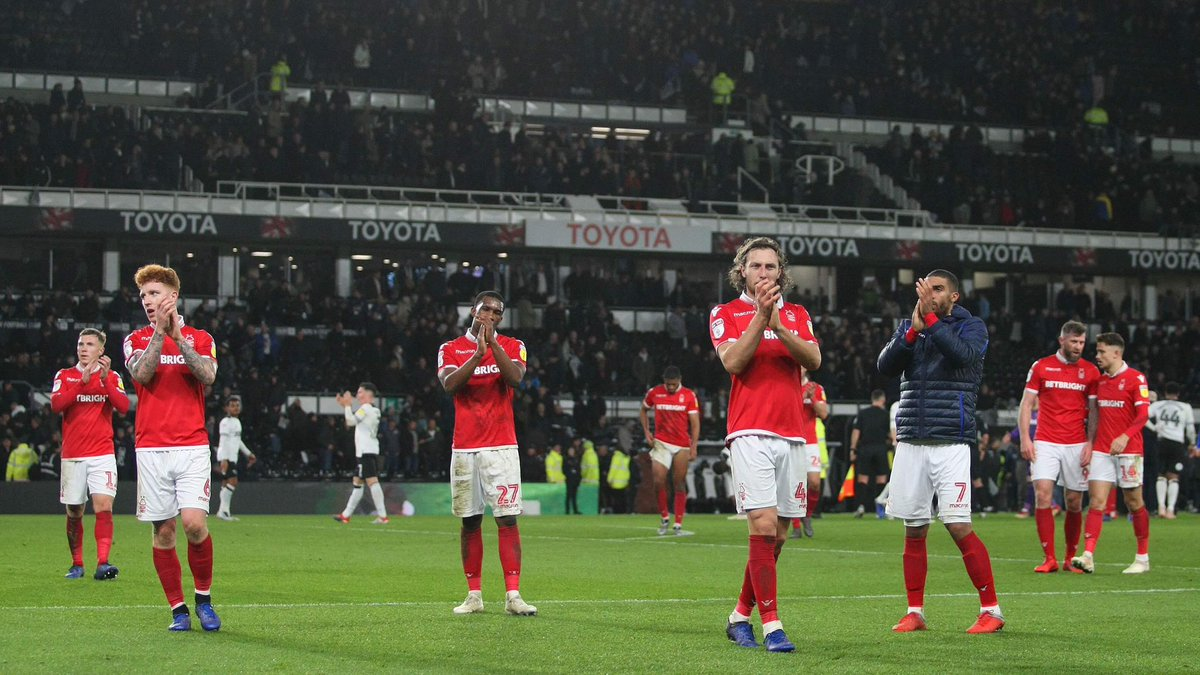 👏 Thank you 👏   Fantastic support from the 3,109 #NFFC fans at Pride Park tonight 🔴