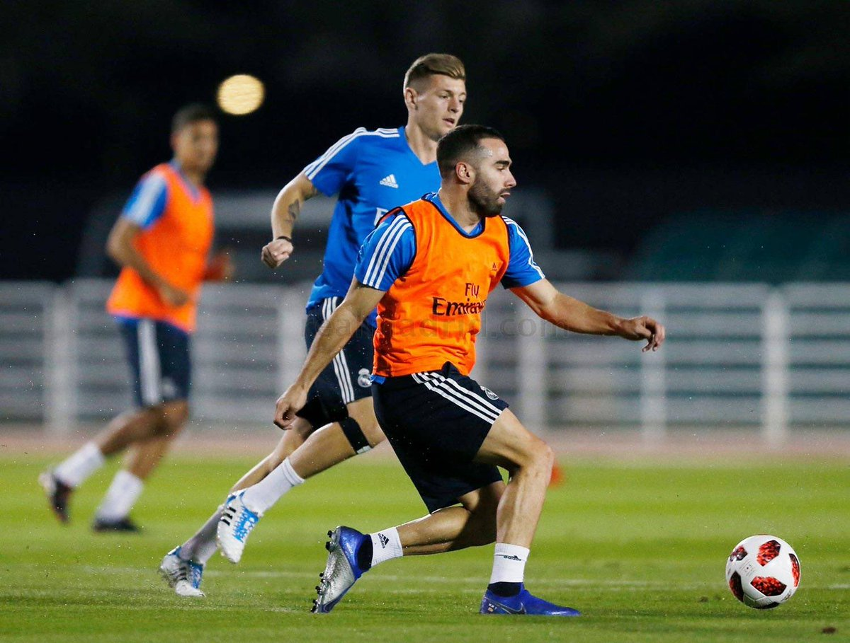 First training session in preparation for Wednesday's match against Kashima Antlers. #RMCWC #HalaMadrid