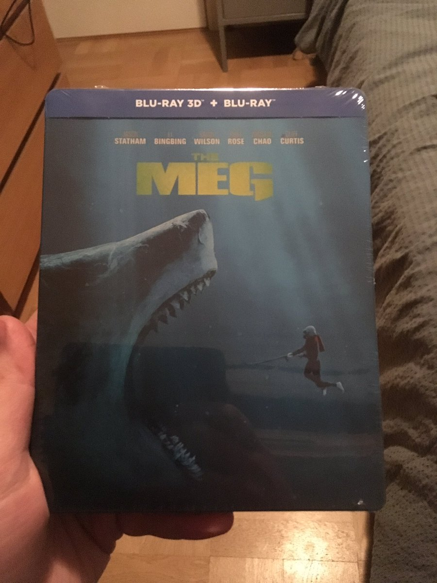 Don't know why the Blu-ray got released in Sweden later, but #TheMeg is finally here! Been waiting for this release sever since I saw it at the cinema. @MegMovie @meg82159 @Themeg2018<br>http://pic.twitter.com/GRoxxSY7Fa