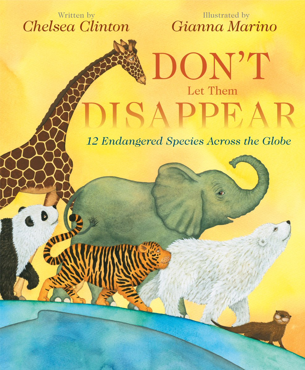 Thrilled to announce the publication of my newest children's picture book, Don't Let Them Disappear! It introduces kids to 12 endangered animals & how we can prevent them from disappearing. Coming to a bookstore near you April 2, 2019!