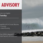 Image for the Tweet beginning: {HIGH SURF ADVISORY} in effect