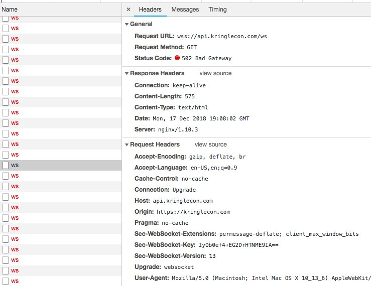 Nginx Websocket 502